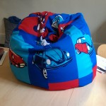 Fun, colourful beanbag
