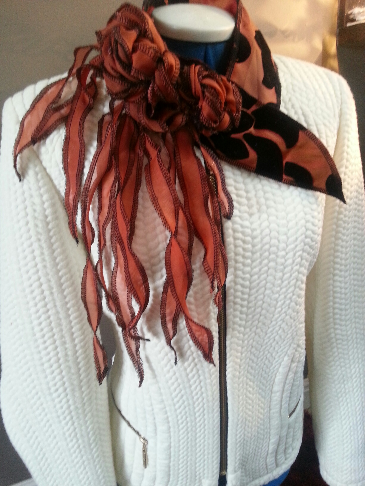 Scarf featured on TV