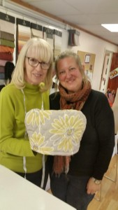 Patchwork Buddies Bev and tutor Christine