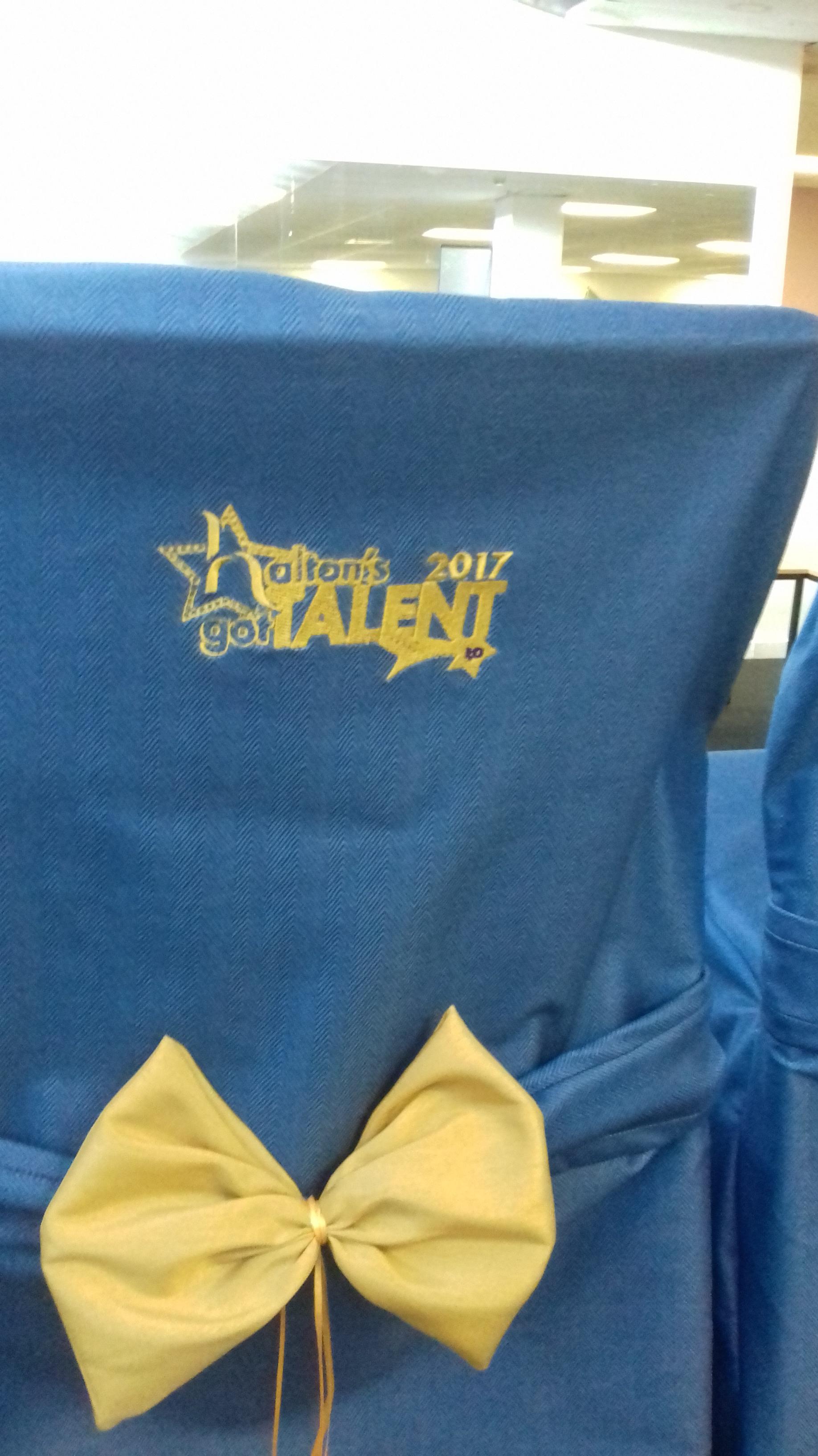 Halton's Got Talent judge's chairs