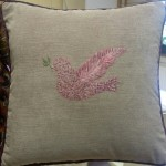 Hand embroidered peace dove