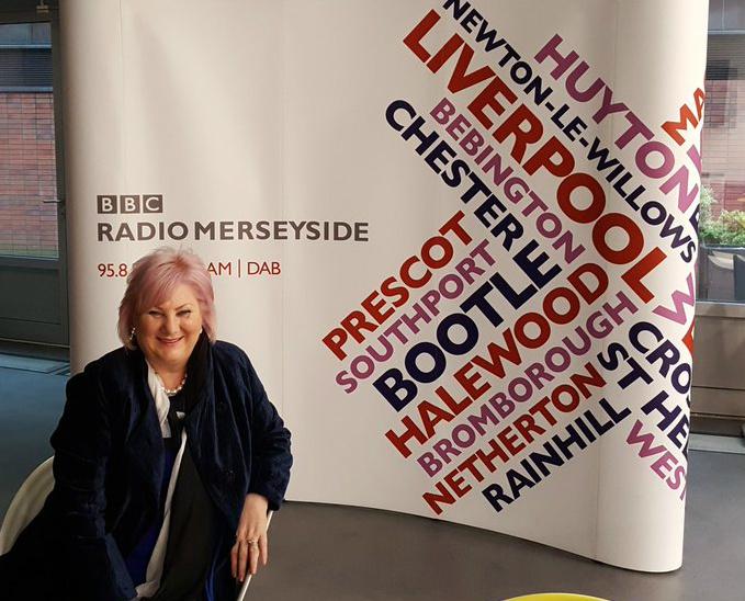 Paula at BBC Radio Merseyside