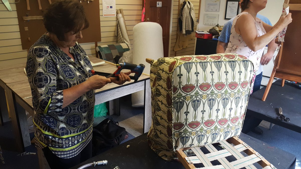 Upholstery in action