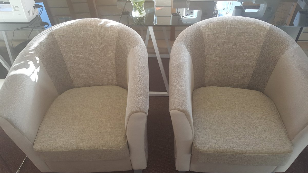 Two new bespoke upholstery commissions