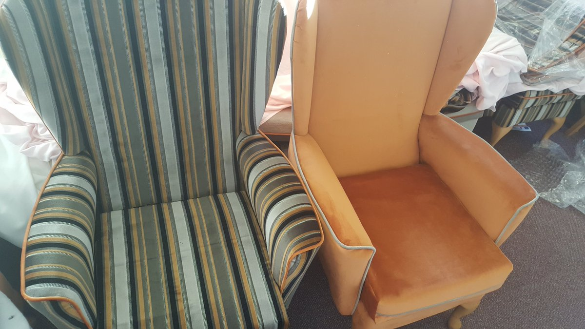 Newly upholstered chairs